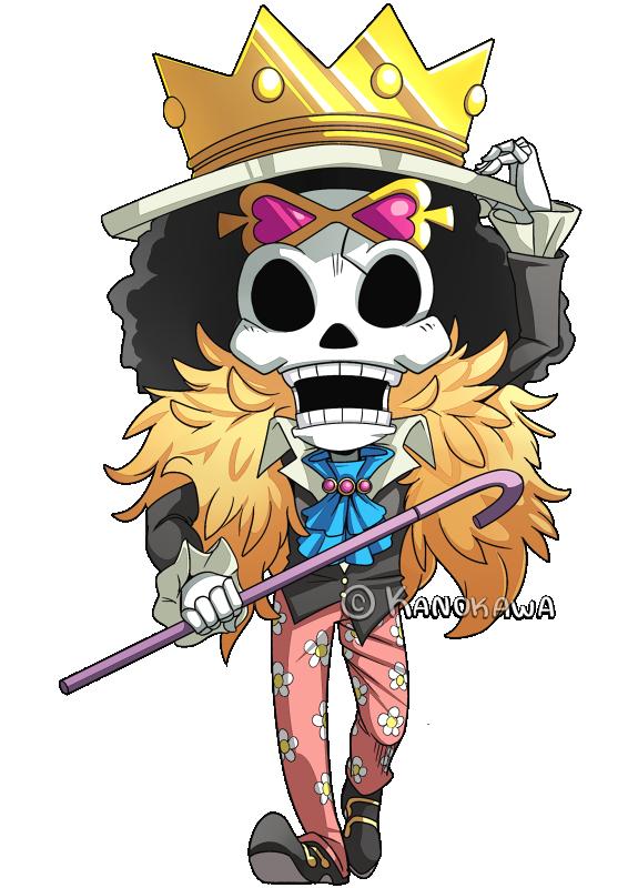 One Piece Brook Chibi By Kanokawa