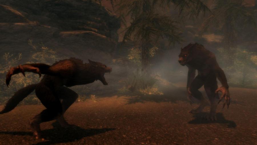 Werewolf fight by XxWhiteShadow96xX on DeviantArt