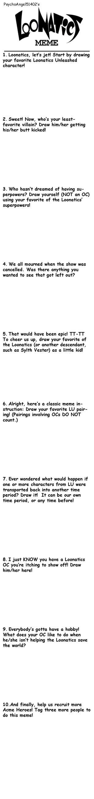 Loonatics Unleashed Art Meme by PsychoAngel51402