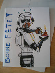 Birthday card Scout trooper by Ifritmermaid