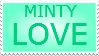 Minty Love Stamp by MelodySpiritLotus