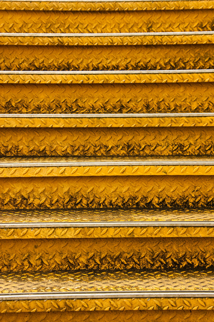 yellow stair by exosquelette