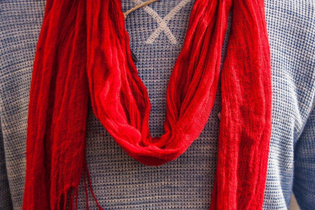 Red Scarf by exosquelette