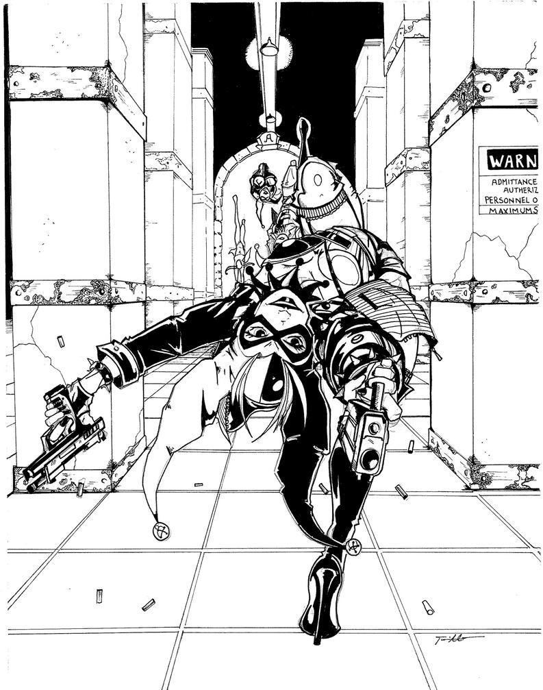 Halrey Print B:w by TravisMercer1017