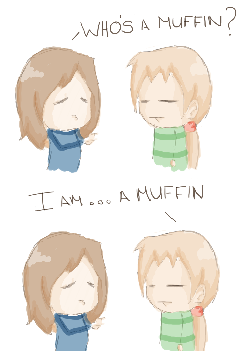 Whos a muffin by JVA-Doodles