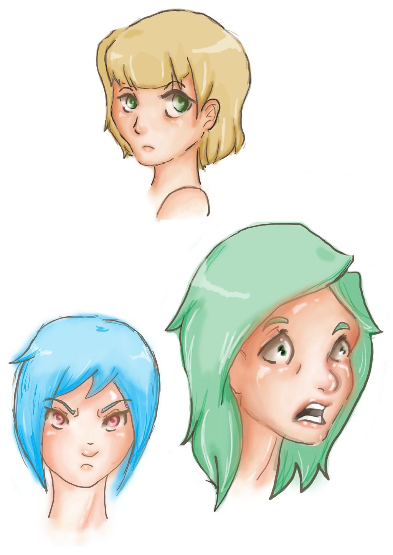 Facial Expressions by JVA-Doodles