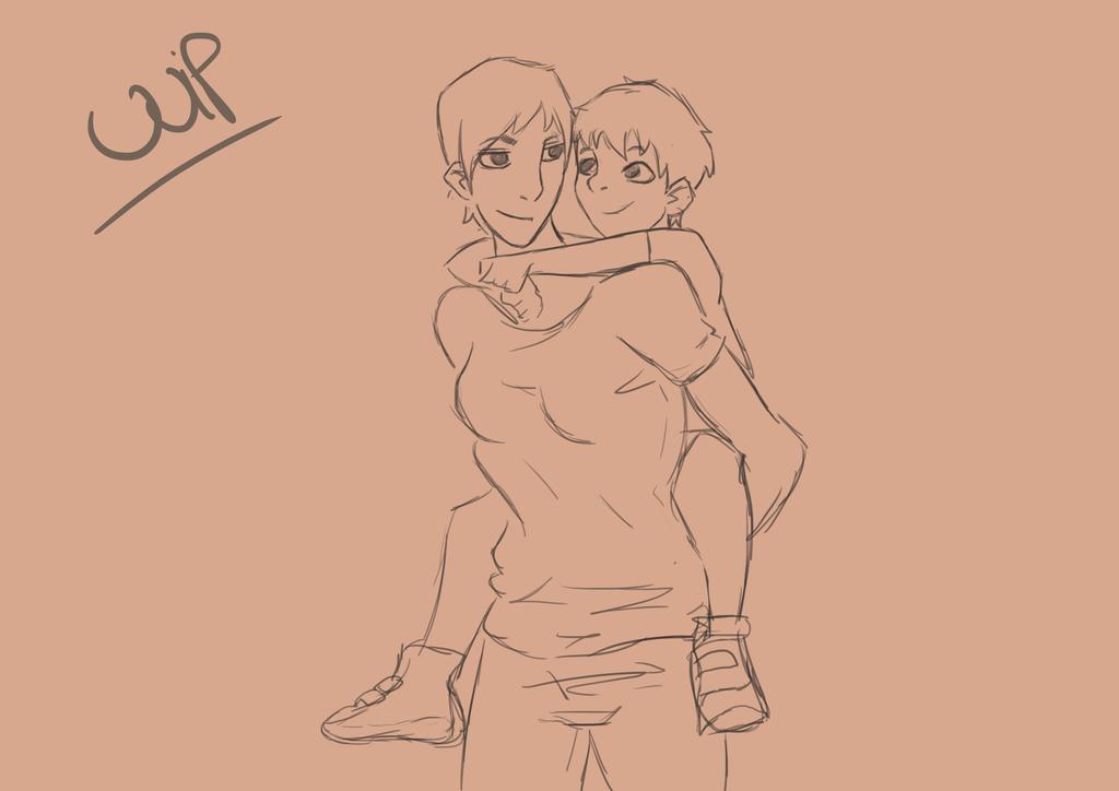 piggyback (WIP) by JVA-Doodles