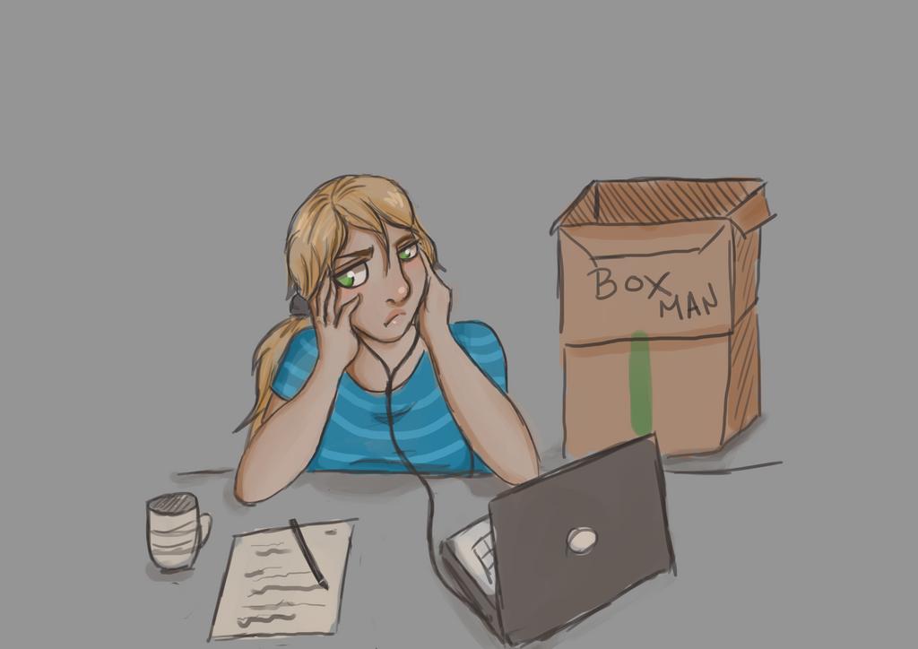 Work, work, work by JVA-Doodles