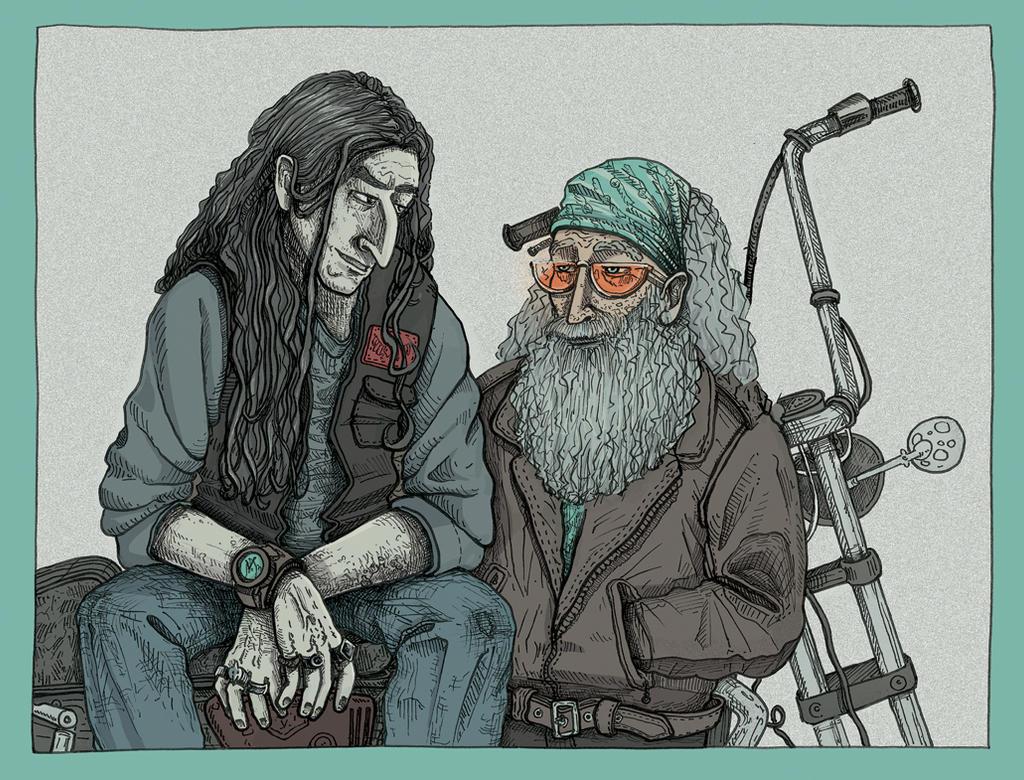 Schnumbledore bikers by LeLazard