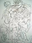 Doom And Gloom Line Art By Miller