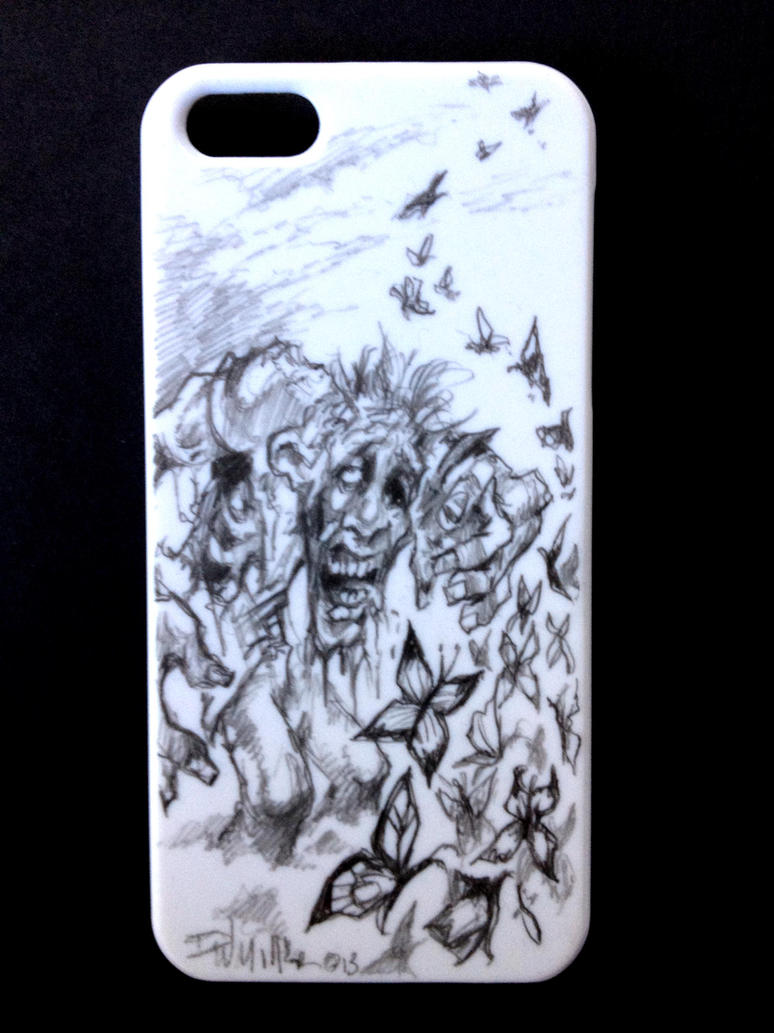 Zombie I Phone 5 Case  Hand Drawn By DW Miller by ConceptsByMiller
