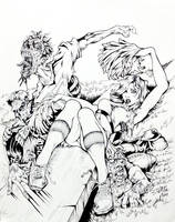Zombies VS. Cheerleaders By DW Miller by ConceptsByMiller