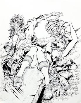 Zombies VS. Cheerleaders By DW Miller