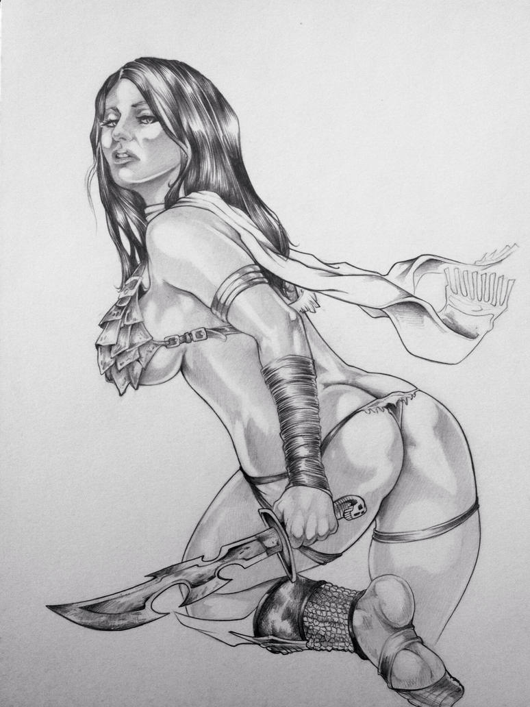 Porn drawings girl warriors sexy pictures