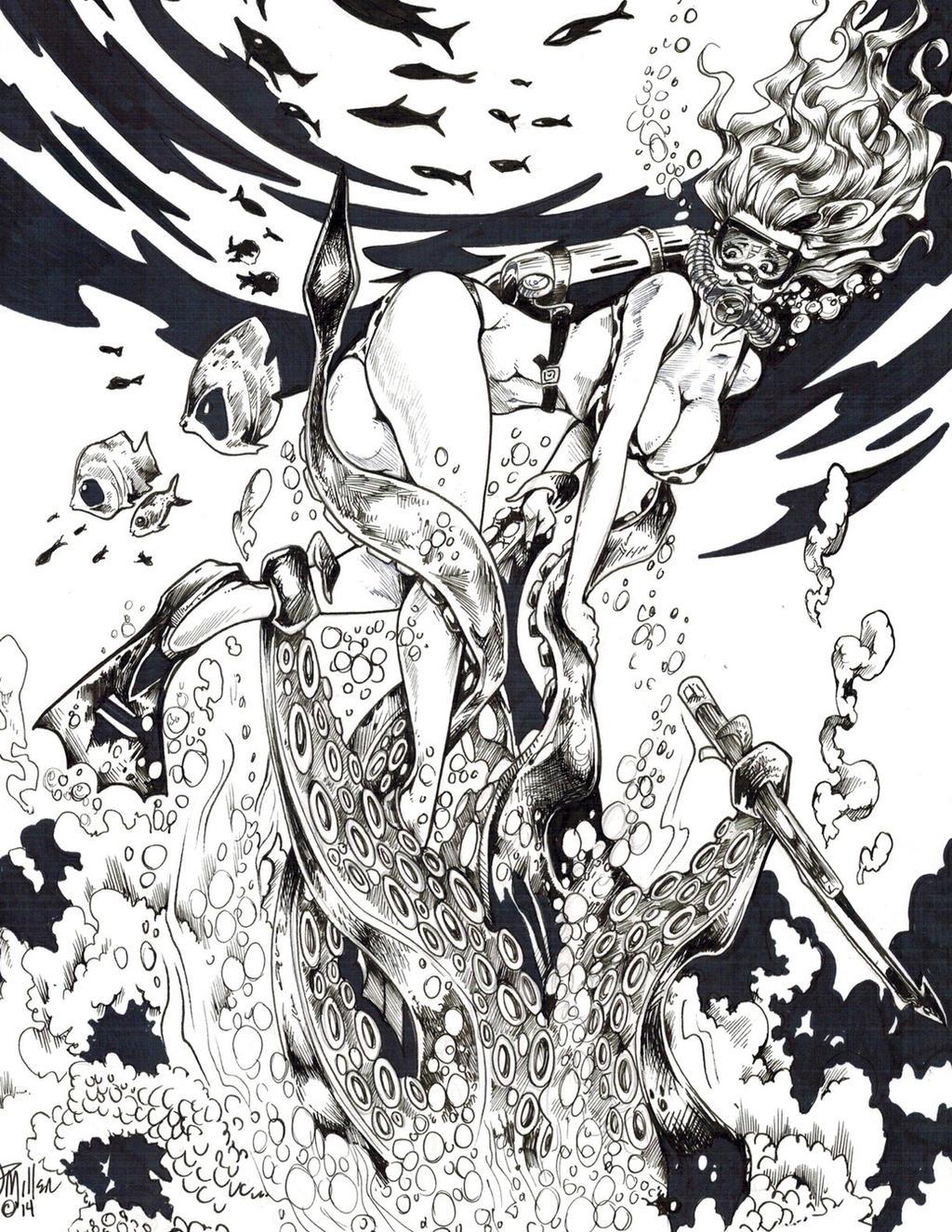 Kraken Fast Food by DW Miller by ConceptsByMiller