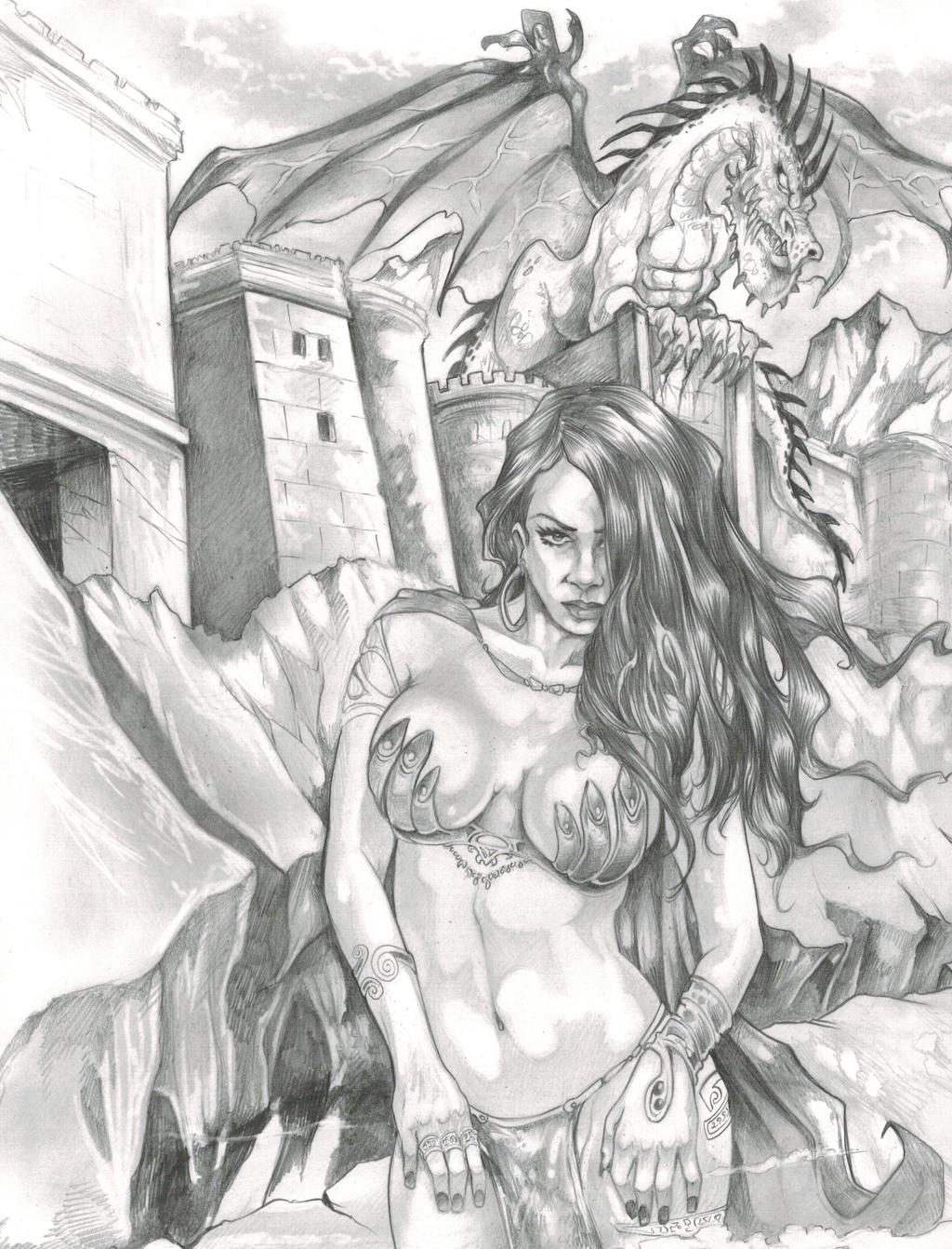 Dragon Keep Original Art By DW Miller