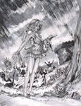 Zombies in Wonderland full inks by DW Miller