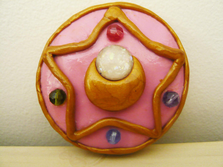 Sailor Moon R Brooch by Silly-Thing