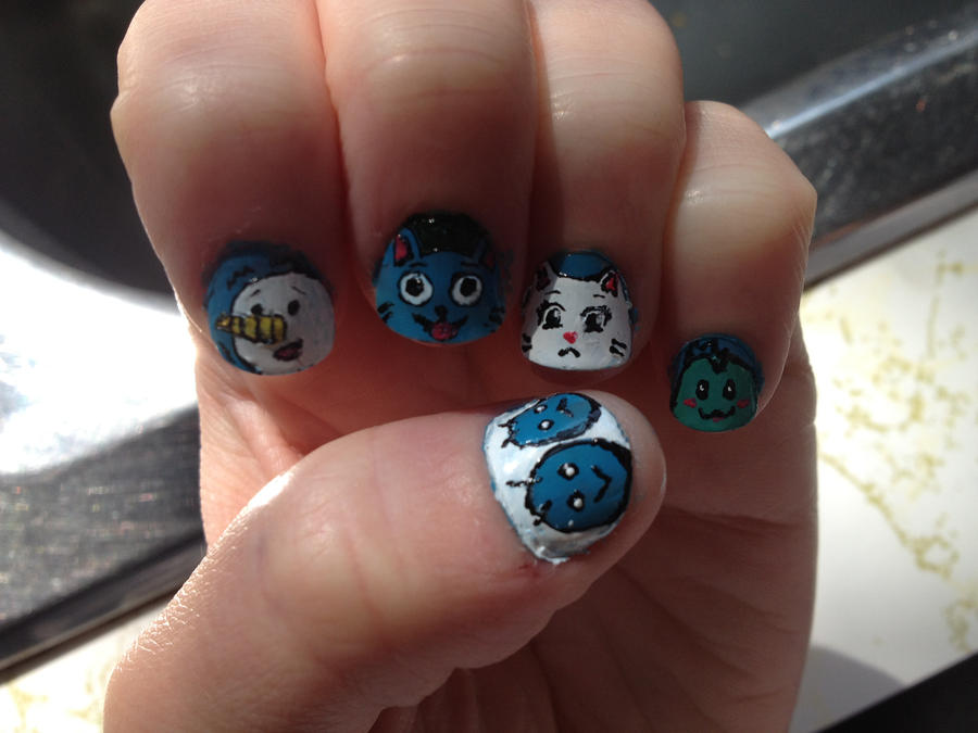 Fairy Tail Nails by imagineBeyondReality on DeviantArt