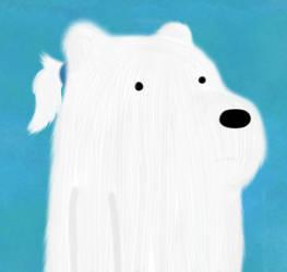Ponytail Ice Bear by AquaSeashells