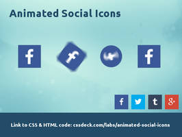 Animated Social Icons (Not for dA)