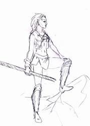Fantasy Sketch: Feral Girl
