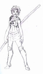 Fantasy Sketch: Feral Girl II