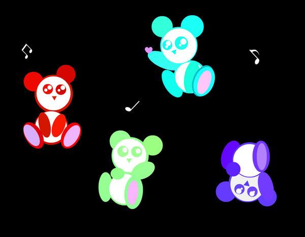 "Panda Wallpaper ""Rainbow"" by LoveSanji101 on deviantART"