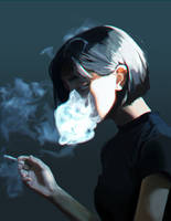 Cigarette smoke by Sh1chiro