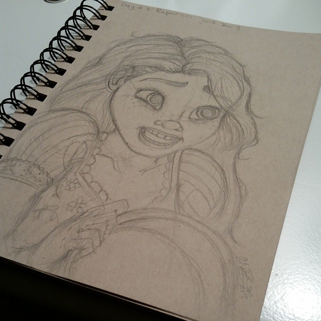 Day 3: Repunzel (Tangled) by Twilightzonegirl13