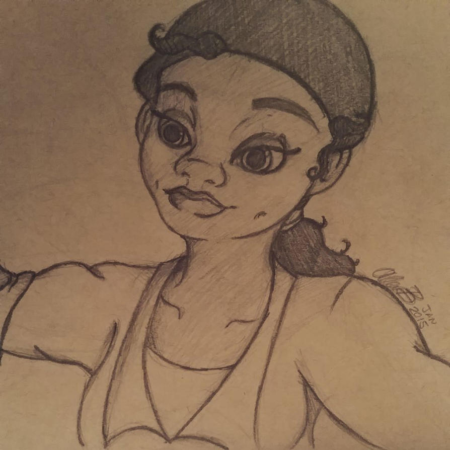 Day 6: Tiana (The Princess and The Frog) by Twilightzonegirl13