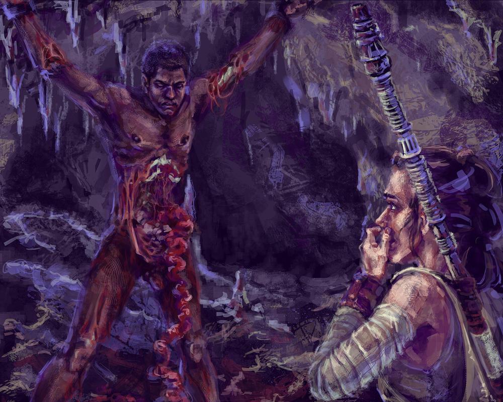 Prisoner in the World of the Dead by KemonoKage