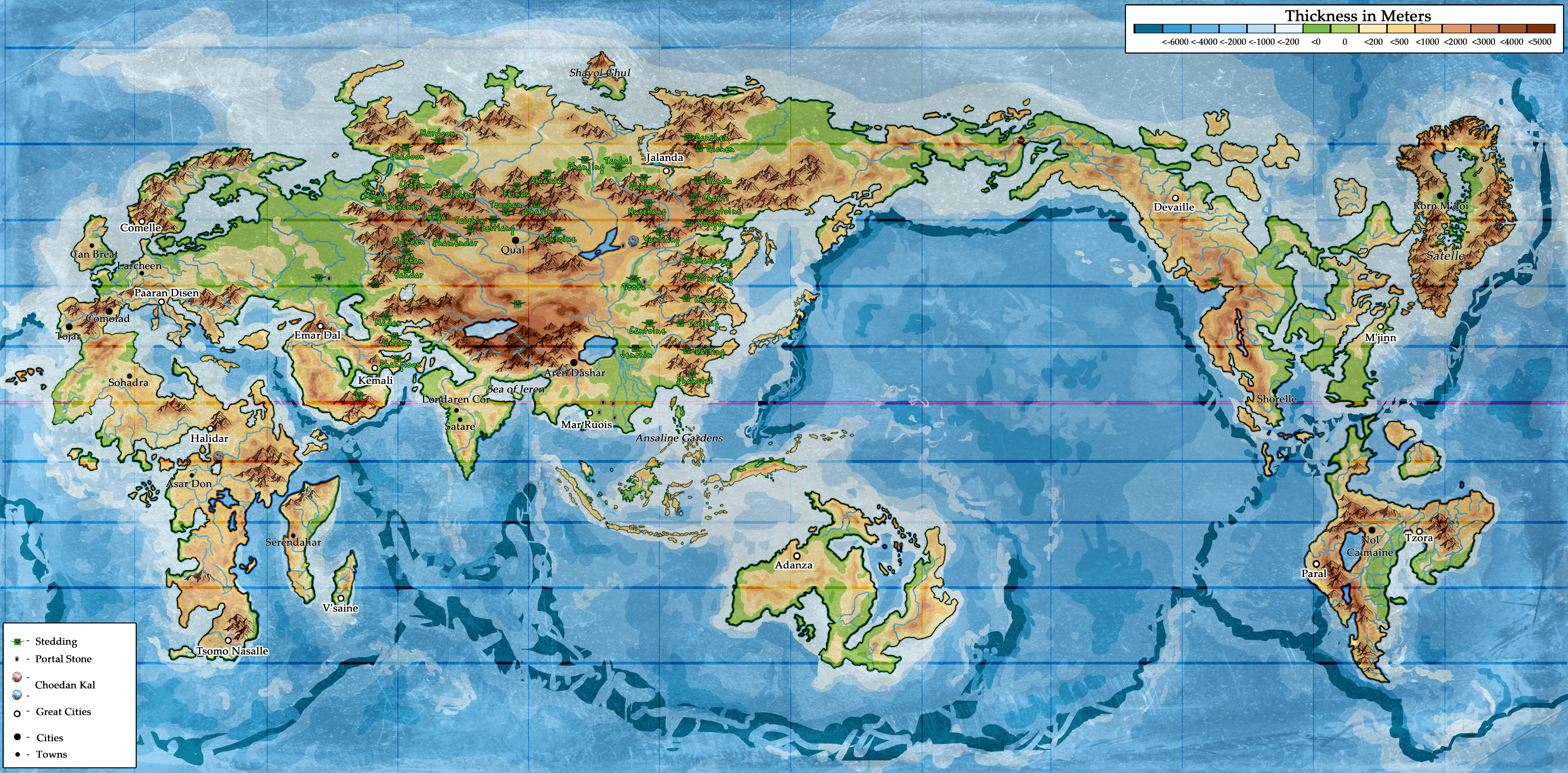 Wheel of Time world map: Second Age by KemonoKage on DeviantArt