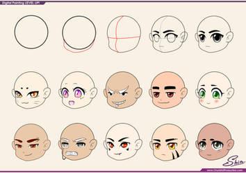Studying - Chibi Faces by shinekoshin