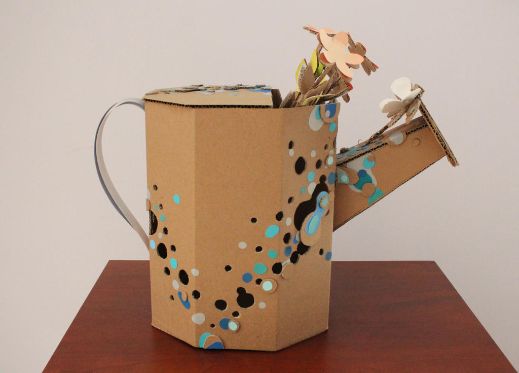Cardboard Watering Can by Mrs-Elric-613