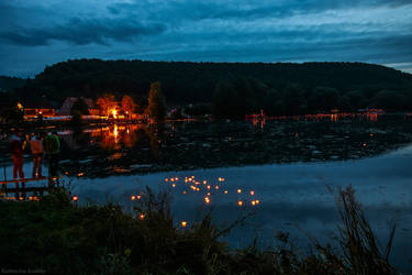 Lichtermeer am Itzelberger See 2013 by KatharinaKuebler