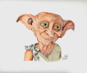 My portrait of DOBBY from HaRrY PoTtEr SaGa