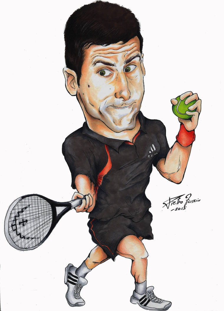 Caricature Of Novak Nole Djokovic By Peterbandle85 On Deviantart