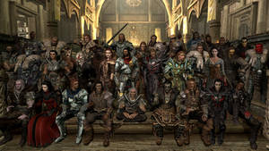 Skyrim Characters in Class Photo