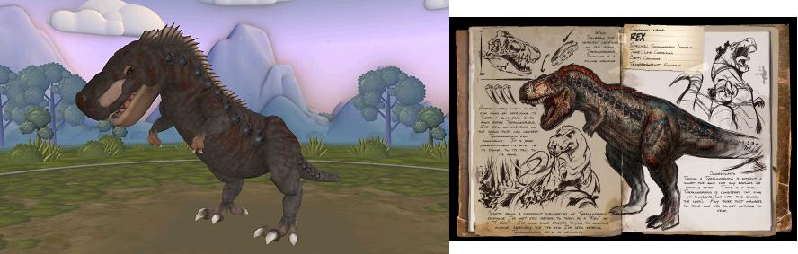 Spore Rex (Ark survival evolved design) by Marmotte5280