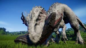 JWE Indominus rex vs Indoraptor