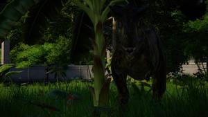 JWE Carnotaurus lurking in the jungle