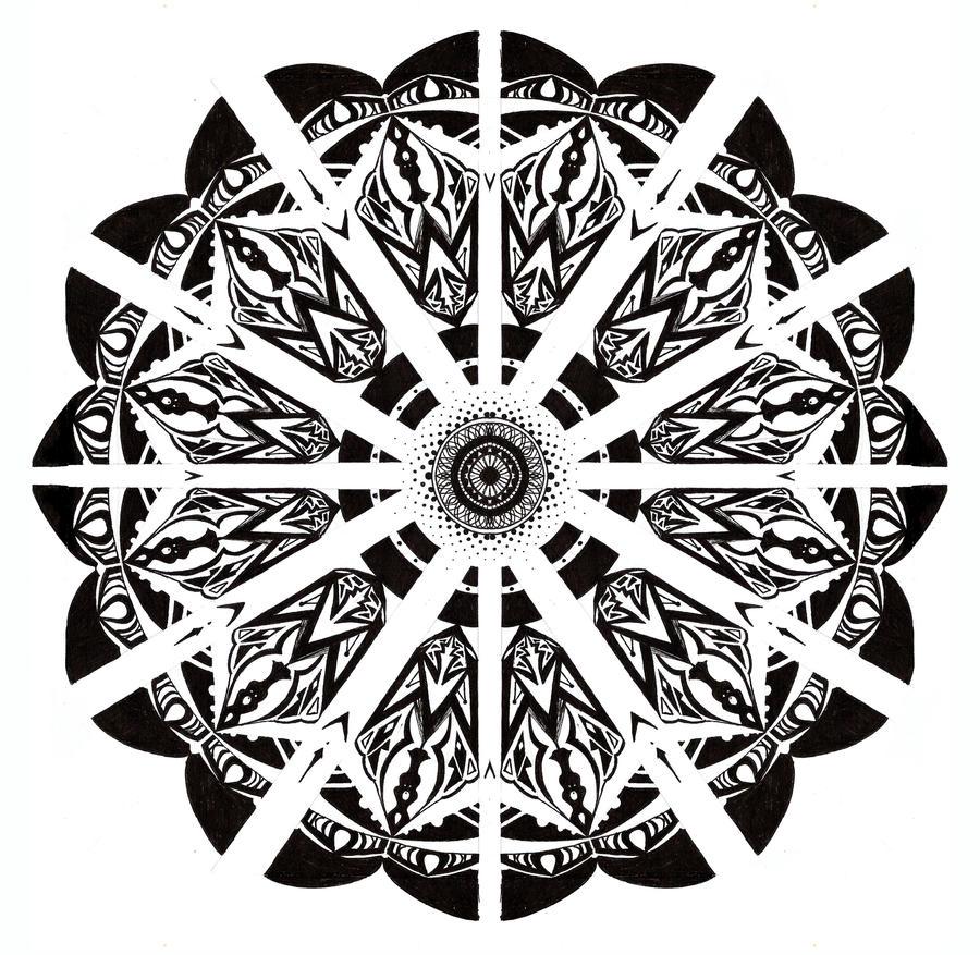 Mandala Black And White  Shutterstock