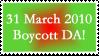 Boycott DA Stamp 01 by SDRandTH-Stock