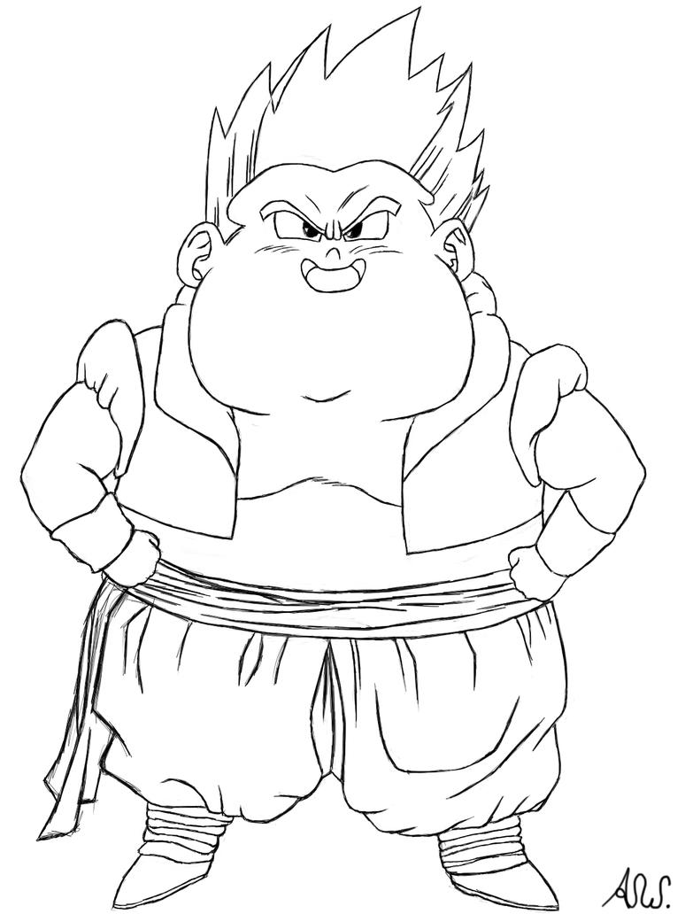 gotenks coloring pages - photo#49