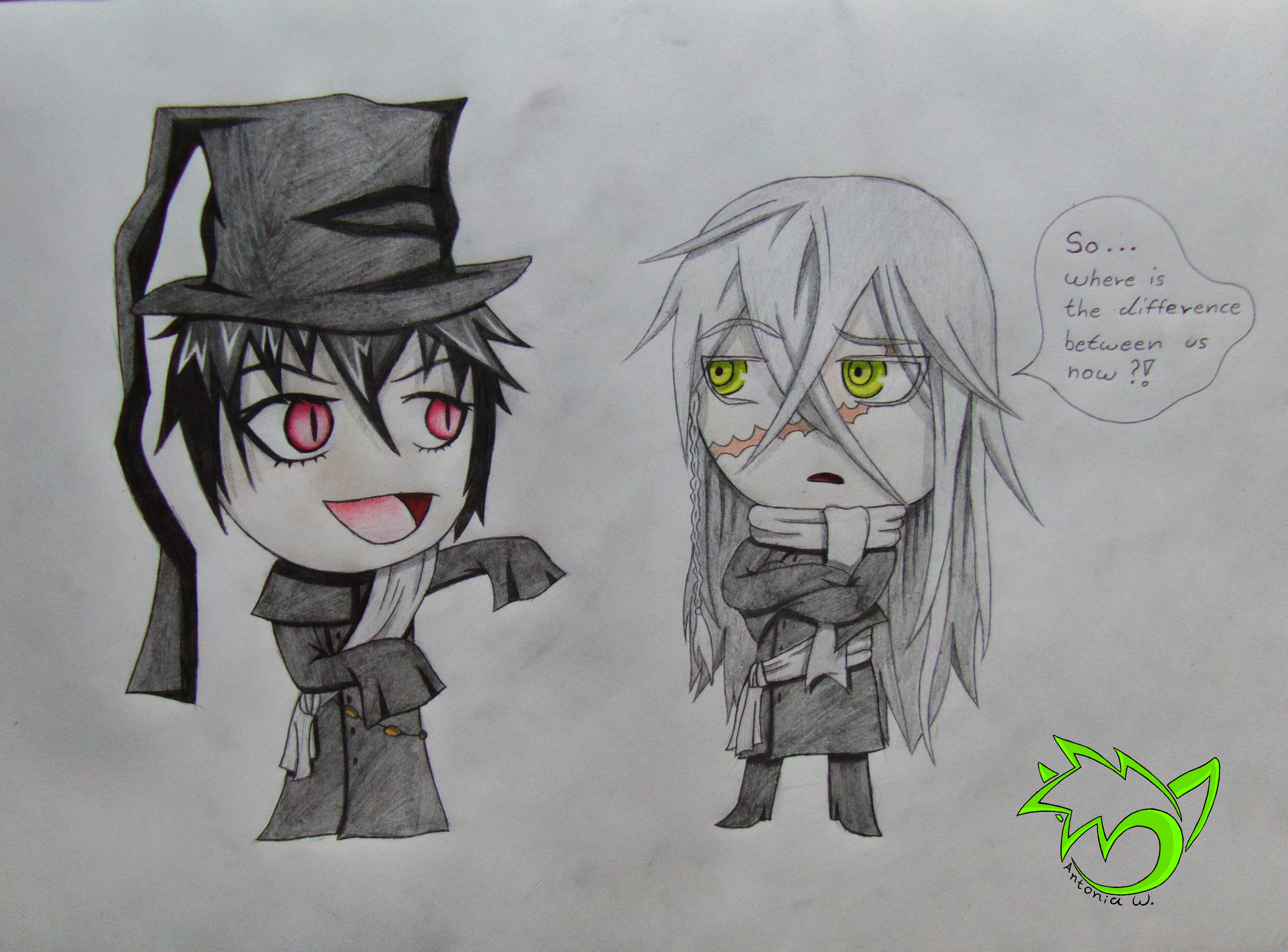 Chibi Cosplay RoseUndertaker Commission By CaptainPinsel