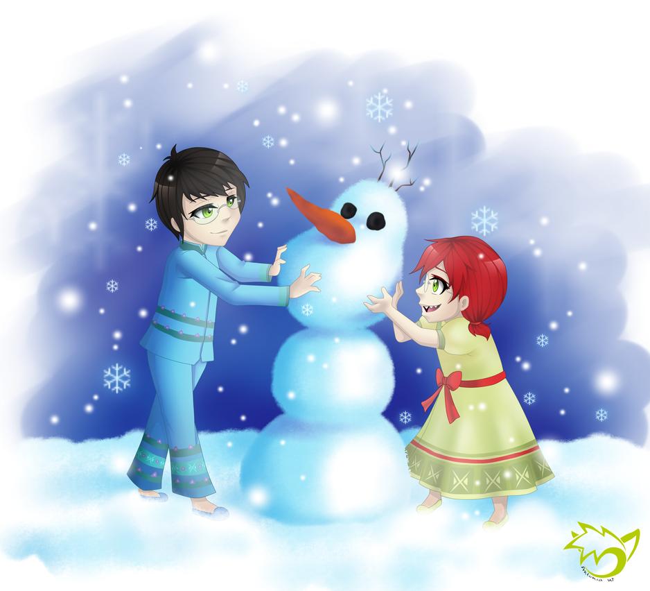 .: Willst du einen Schneemann bauen? :. by CaptainPinsel