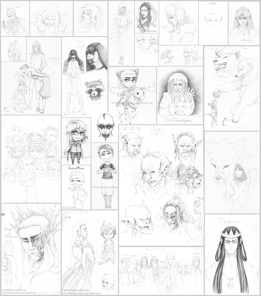.: Sketch dump 7 :. by PinselTheExperiment