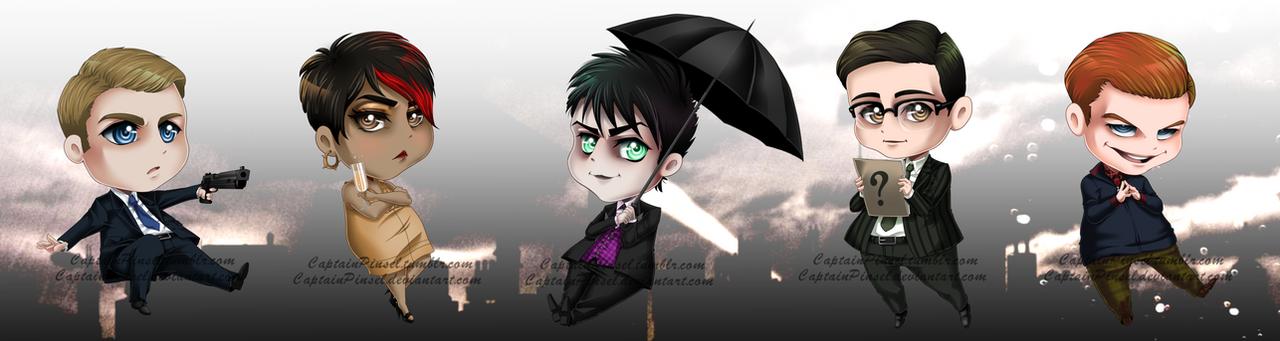 .: Gotham Chibis :. by CaptainPinsel