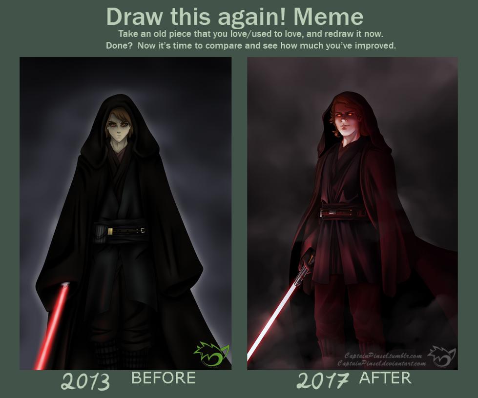 .: Redraw Meme :. Anakin Skywalker/Darth Vader by CaptainPinsel